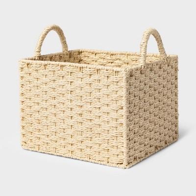 Rectangular Decorative Basket Natural - Threshold™