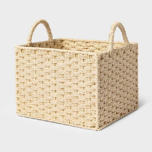 Rectangular Decorative Basket Natural - Threshold™ - image 1 of 3