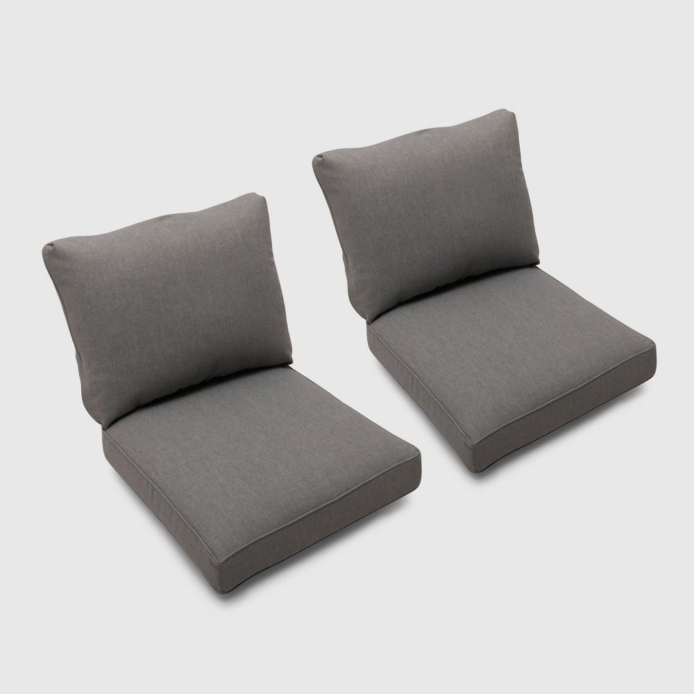 Foxborough 2pk Loveseat Cushions Gray - Threshold