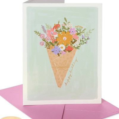 Wrapped Floral Print Birthday Card - PAPYRUS