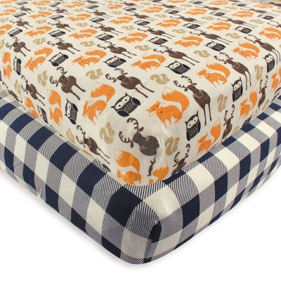 Hudson Baby Unisex Baby Cotton Fitted Crib Sheet - Forest One Size