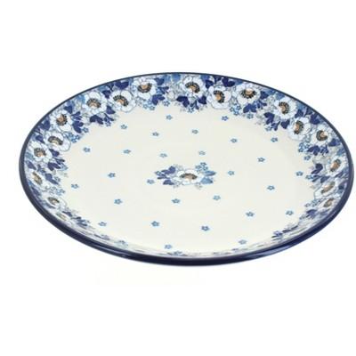 Blue Rose Polish Pottery Georgia Blue Dinner Plate