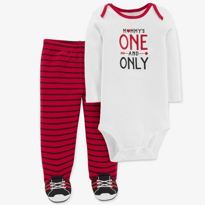 Baby Boys' 2pc One and Only Set - Just One You® made by carter's White/Red Newborn