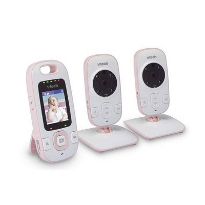 VTech BV73122PK Digital Video Baby Monitor with 2 Cameras and Automatic Night Vision - Pink