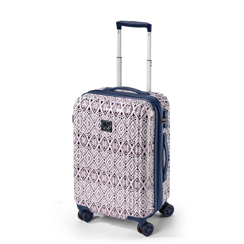 "Image of ""Ivory Ella 20"""" Hardside Suitcase - Pink/Blue Diamond Mosaic, Size: Small"""