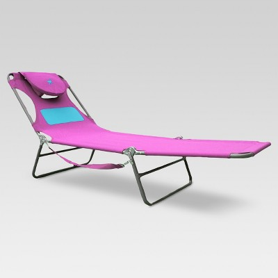 Ladies Ostrich Beach Lounger with Ladies Comfort Pouch Pink - Deltess