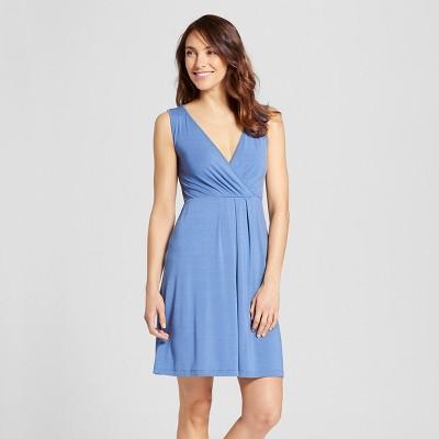 Women's Nursing V-Neck Nightgown - Gilligan & O'Malley™ Blue Willow L