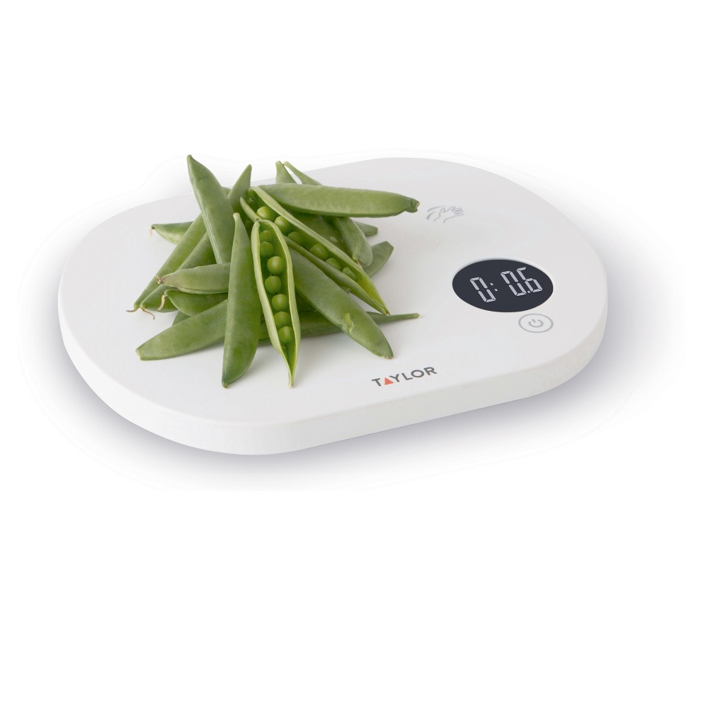 Taylor Touchless Tare Digital Food Scale, White