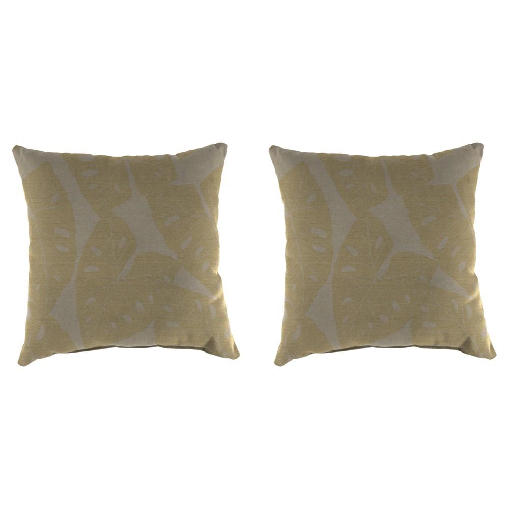 Outdoor Set Of 2 Decorative Pillows - Brown Shimmer - Jordan Manufacturing