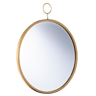 "27.5"" x 23"" Loris Decorative  Wall Mirror Bronze - Aiden Lane"