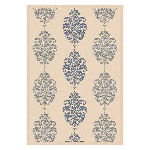 "Orly Rectangle 4' X 5'7"" Outdoor Rug - Natural / Blue - Safavieh® - image 1 of 1"