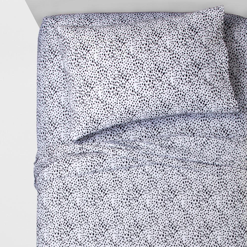 Full Dapper Dots Sheet Set - Pillowfort, Black