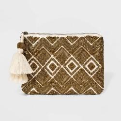 Handloom Flat Beaded Pouch Clutch - Universal Thread™