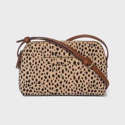 Leopard Print Zip Closure Crossbody Bag - Universal Thread™ Gray