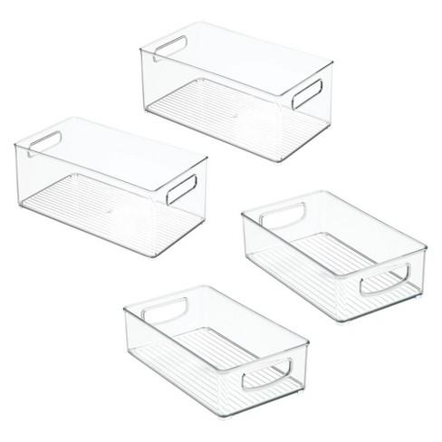 mDesign Plastic Kitchen Food Storage Organizer Bin, 4 Piece Set - Clear - image 1 of 4