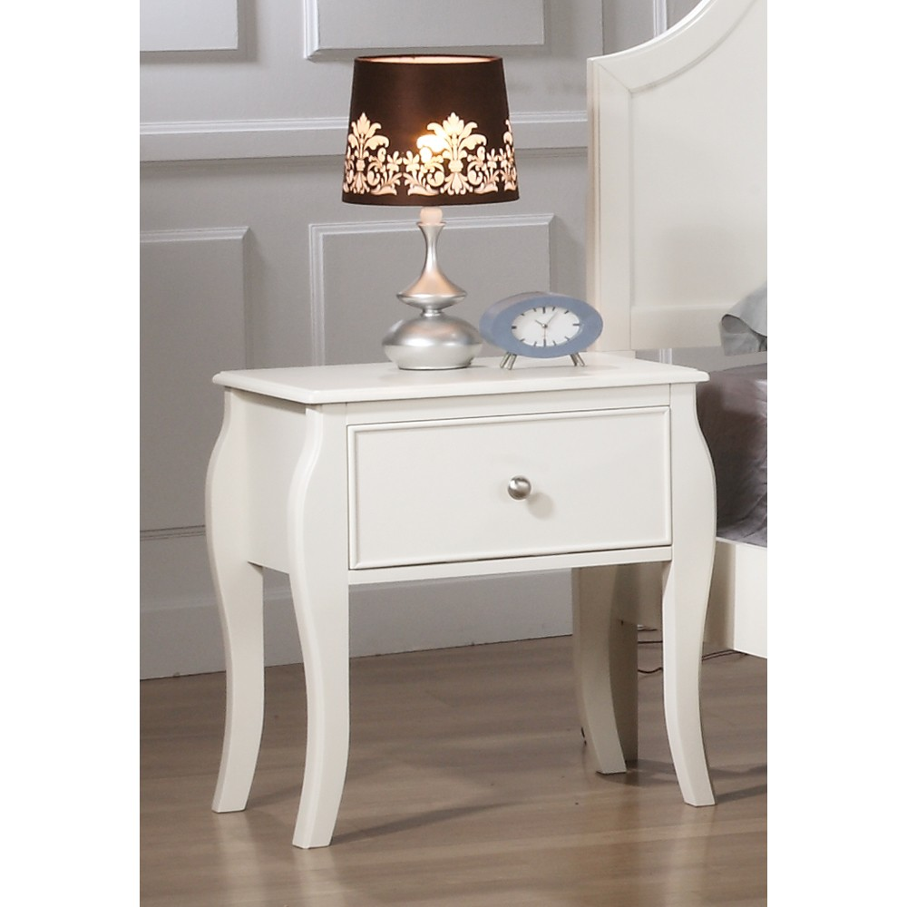 Sophie 1 Drawer Nightstand White - Private Reserve