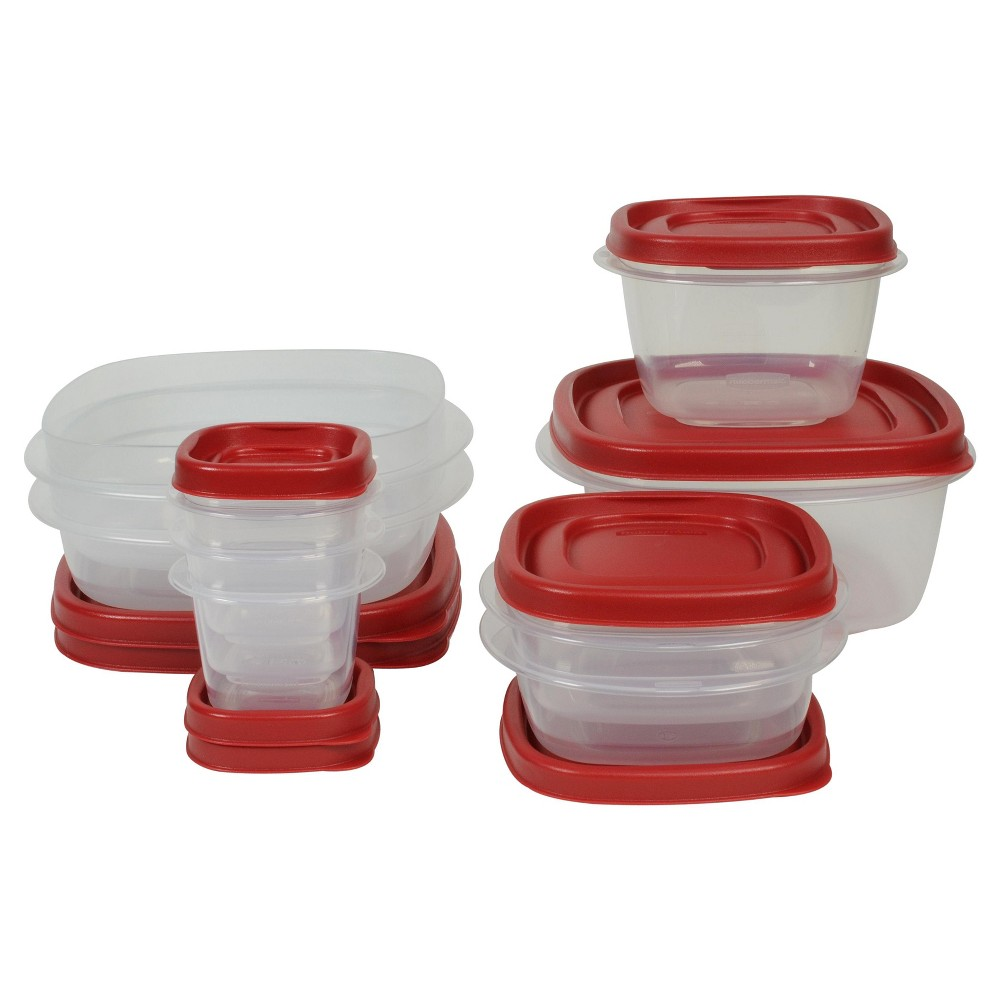 Rubbermaid 18pc Easy Find Lids Food Storage and Organization Containers, Red