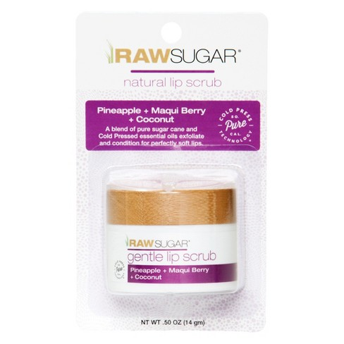Raw Sugar Organic Lip Scrub - Pineapple + Maqui Berry + Coconut - 0.5oz - image 1 of 7