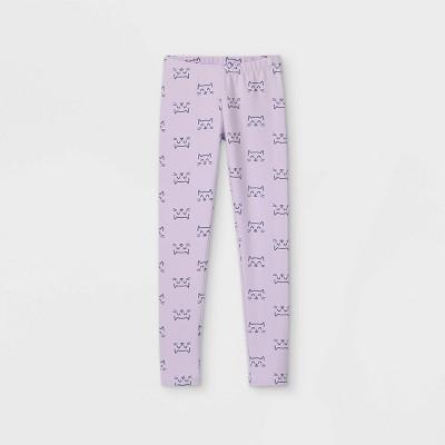 Girls' Cat Leggings - Cat & Jack™ Light Purple