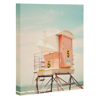 "Bree Madden Beach Tower 5 Art Canvas 24"" x 30"" - Deny Designs"