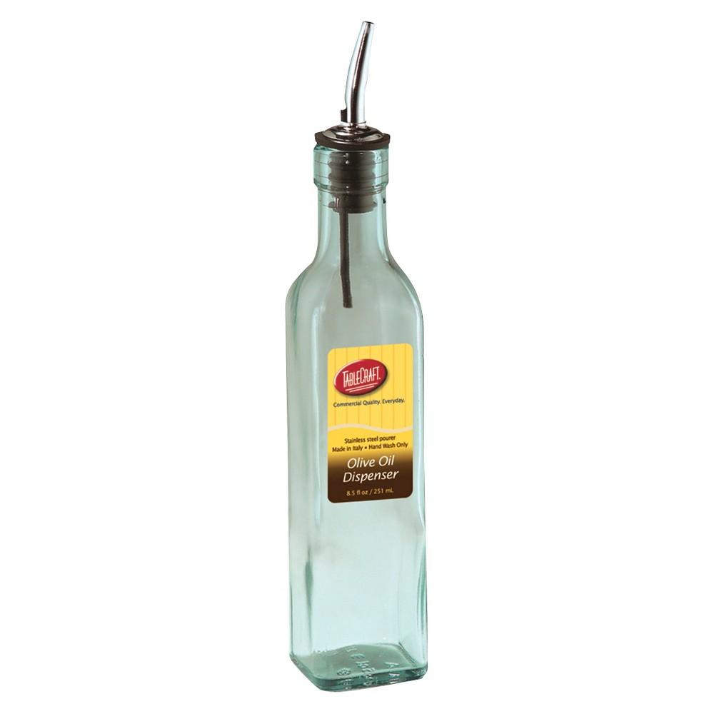 TableCraft 8.5oz Olive Oil Dispenser Bottle Food Storage Bottle Hlb Glass