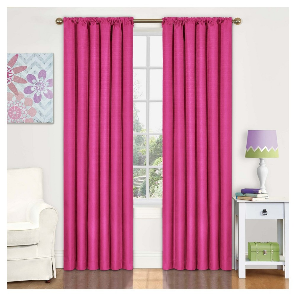 Kendall Blackout Thermaback Curtain Panel Pink (42