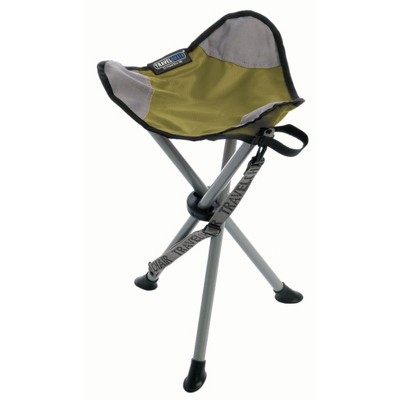 TravelChair Backless Slacker Portable Outdoor Folding Stool Seat Tripod, Green
