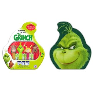 PEZ Grinch Christmas Gift Tin - 1.74oz