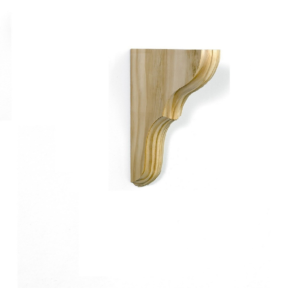 Image of Wooden Bracket 5 X 8 X 1.38'' - Natural