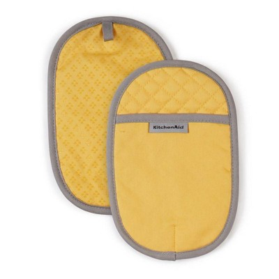 "KitchenAid 2pk 6.5""X10"" Asteroid Pot Holders Yellow"