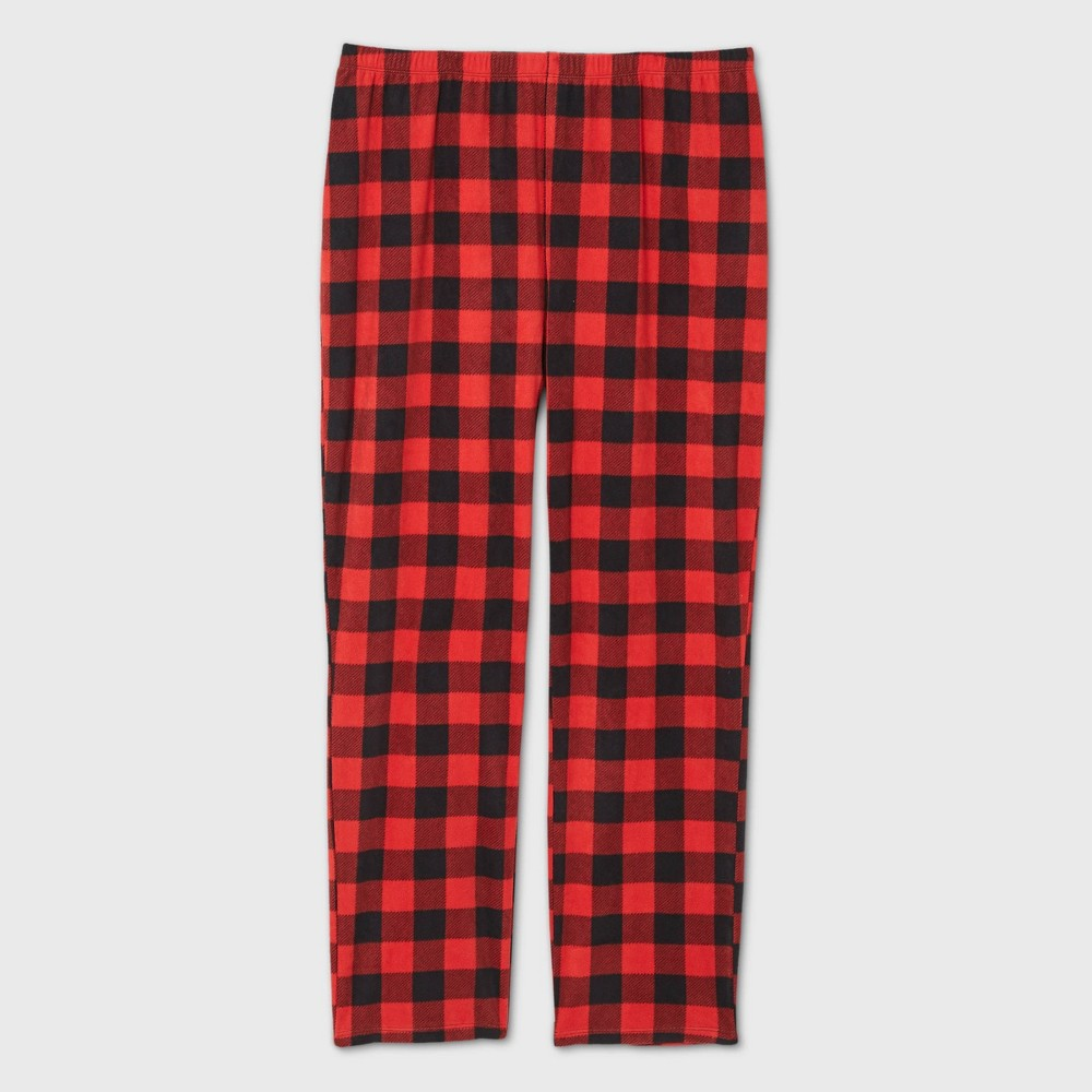Reviews Women's Plus Size Holiday Buffalo Check Fleece Matching Family Pajama Pants - Wondershop™