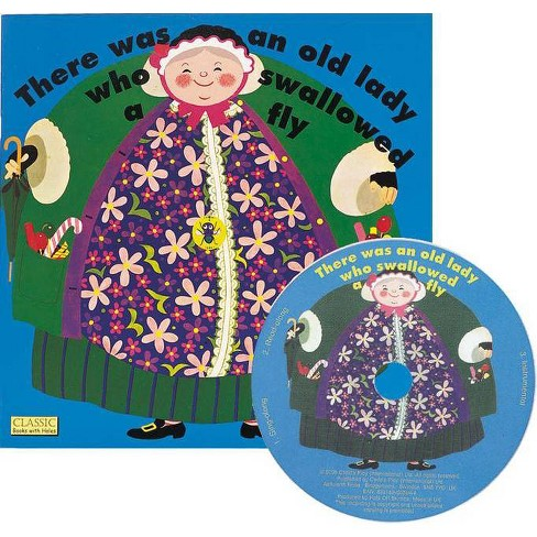 There Was an Old Lady Who Swallowed a Fly - (Classic Books with Holes Us Soft Cover with CD) - image 1 of 1