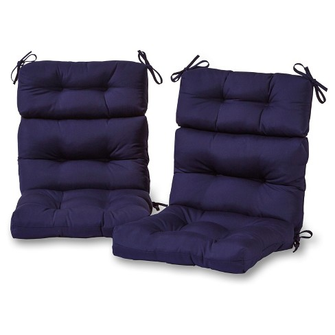 Set of 2 Solid Outdoor High Back Chair Cushions - Greendale Home Fashions - image 1 of 3