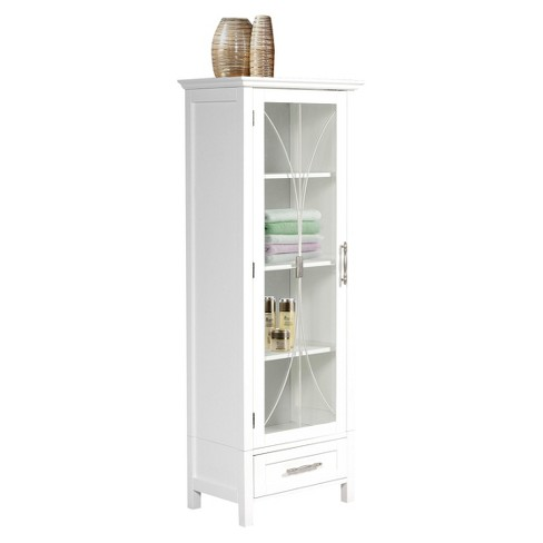 ae2fc68382d49 Symphony Tall Floor Cabinet White - Elegant Home Fashions. Shop this  collectionShop all Elegant Home Fashions. This item has 5 photos submitted  from guests ...