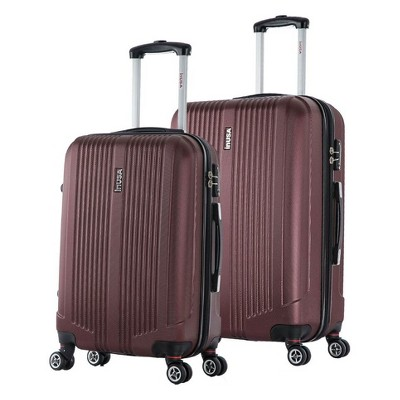 InUSA San Francisco 2pc Hardside Spinner Luggage Set 22 & 26  - Wine