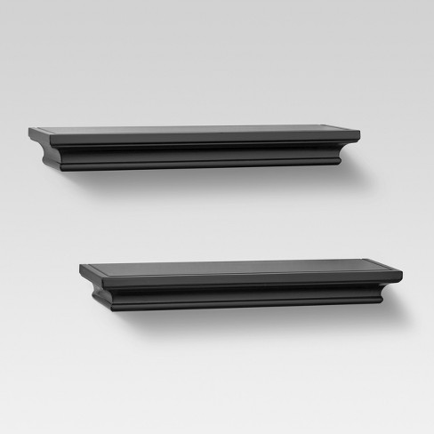 "2ct Traditional Shelves Black 15.75"" - Threshold™ - image 1 of 2"