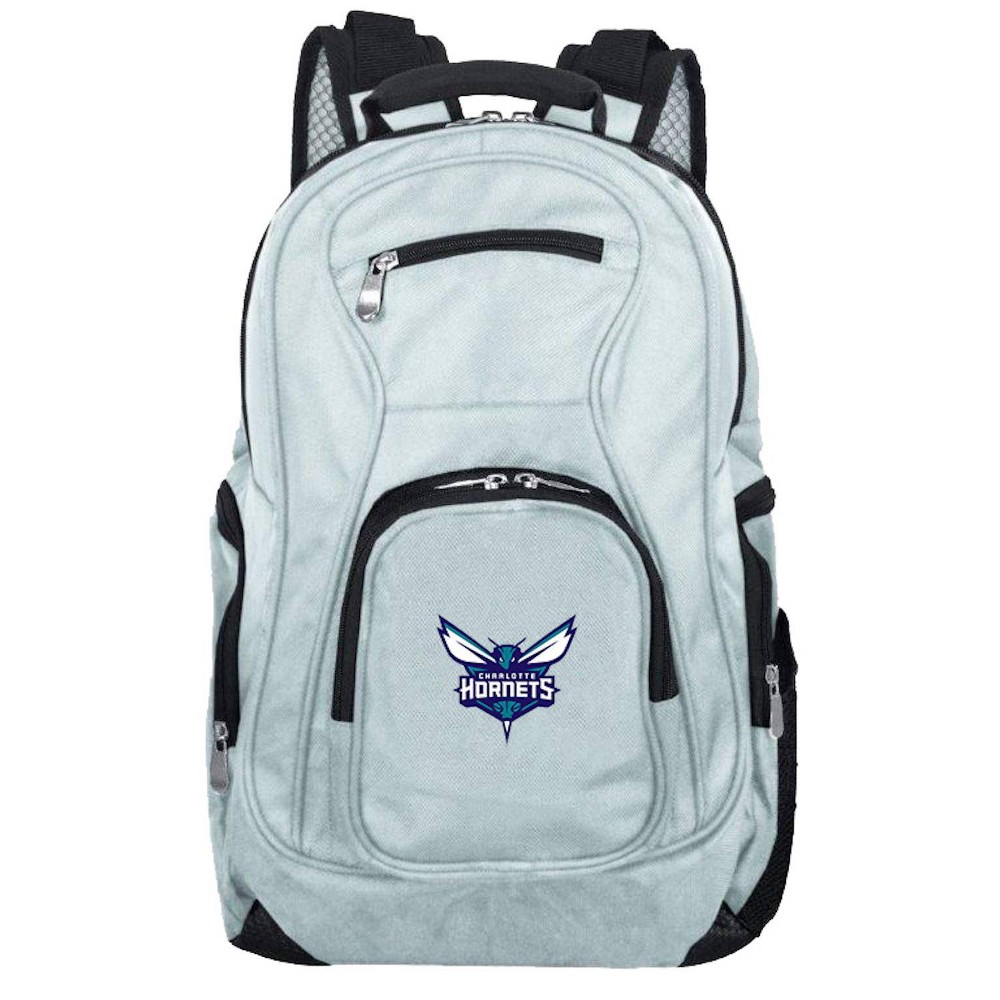 NBA Charlotte Hornets Gray Laptop Backpack, Size: Small