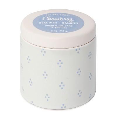 9oz Lidded Ceramic Jar Candle Hyacinth & Bamboo - Threshold™