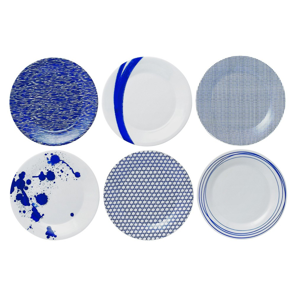 "Image of ""Accent Plates Pacific 9""""x9"""" Set of 6 - Royal Doulton"""