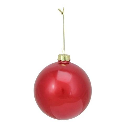 Christmas Tree Balls Decorations.Raz Imports 4 Glass Ball Christmas Tree Ornament Red