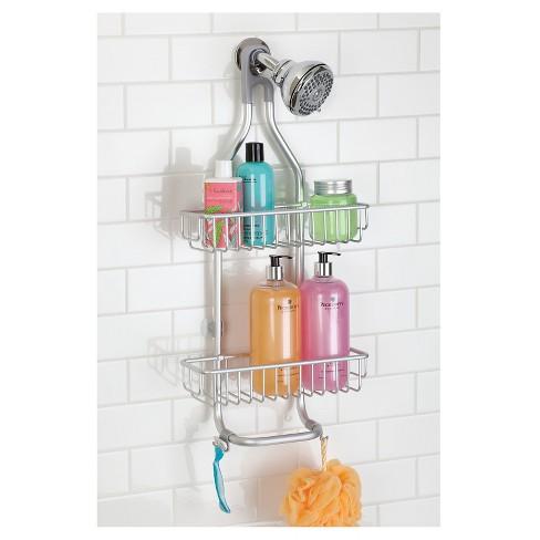 Rustproof Aluminum Bathroom Shower Caddy Silver - InterDesign : Target