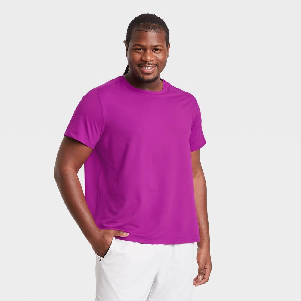 Men 39 S Short Sleeve Performance T Shirt All In Motion 8482 Bright Purple Xxl