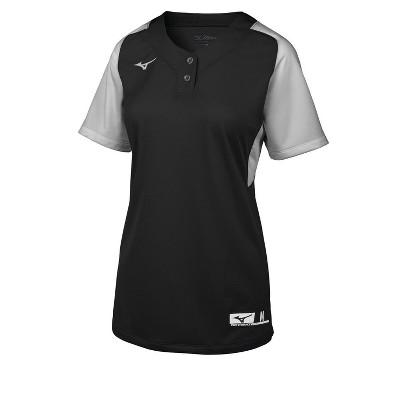 Mizuno Youth Girl's Aerolite 2-Button Softball Jersey