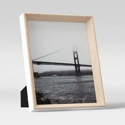Two-Toned Rounded Wedge Table Frame Woodgrain/White - Project 62™