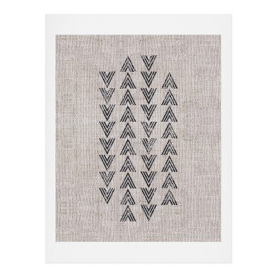 Holli Zollinger French Tri Arrow Art Print Unframed Wall Poster Gray - Deny Designs