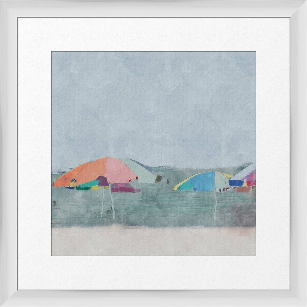 18 34 X 18 34 Pop Beach Framed Wall Art White Ptm Images