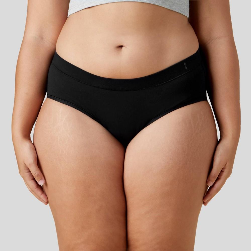 Thinx For All Women 39 S Plus Size Super Absorbency Brief Period Underwear Black 1x