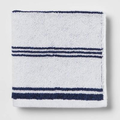 Performance Washcloth Navy Stripe - Threshold™