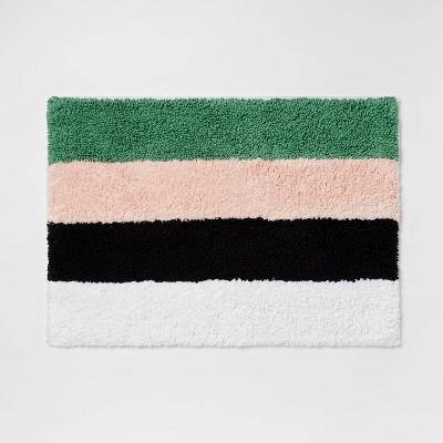 "17""x24"" Colorblock Striped Cotton Bath Rug - Room Essentials™"