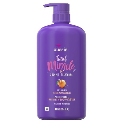 Aussie Paraben-Free Total Miracle Shampoo with Apricot & Macadamia For Damage Hair - 30.4 fl oz